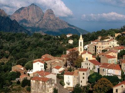 France-View of Evisa Corsica Island