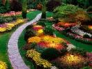 Sunken Garden Butchart Gardens Saanich Peninsula British Columbia Canada