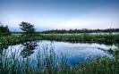 High mirror glass pond
