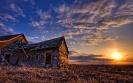 High prairie sunset