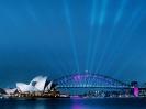 Australia-Sydney Opera House and Harbour Bridge at Dusk
